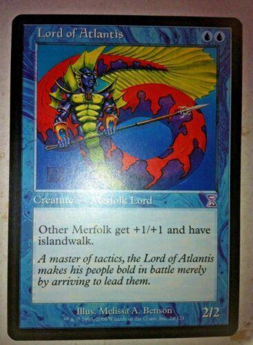 - MTG - Lord of Atlantis Black Bordered Time Shifted Time Spiral - Merfolk