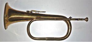 SystéMatique Intéressant Clé Unique German Brass Bugle-afficher Le Titre D'origine Garantie 100%