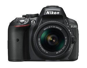 Nikon D5300 24.2MP Digital SLR Camera - Black w/AF-P 18-55mm VR Lens