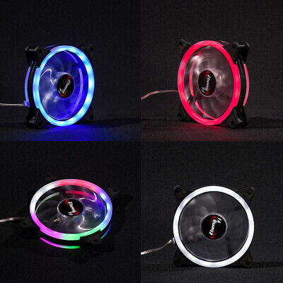 Red LED Cooling Fan RGB 120mm 12V 0.3A Brushless Cooler for Computer Case PC CPU