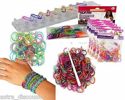 PMS GIRLS FRIENDSHIP LOOM BRACELET RUBBER BAND JEWELLERY MAKER PARTY GIFT SET