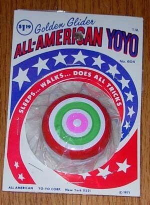 goldEN GLIDER  ALL-AMERICAN YOYO YO YO 1971 1971 1971 MOC 54e6e5