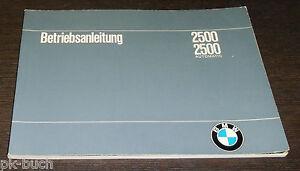 Instrucciones-Servicio-Manual-BMW-2500-Incl-Automatico-E3-Stand-12-1968