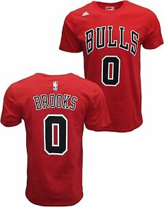 caebc8dbe1b Adidas Chicago Bulls Aaron Brooks #0 Name & Number T-shirt Jersey ...