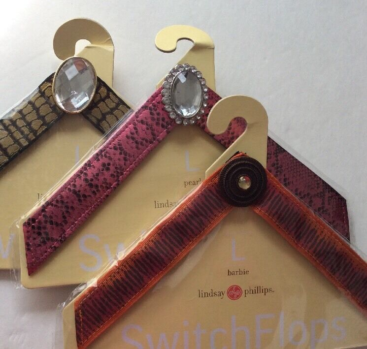 LINDSAY PHILLIPS SWITCHFLOP STRAPS Size L lot of 3 for Switch Flops Sandals
