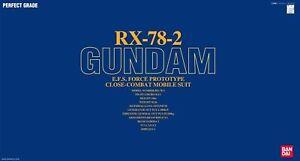 Bandai Pg 1/60 Rx-78-2 Ensemble De Maquettes En Plastique Gundam Nouveau Du Japon F / s