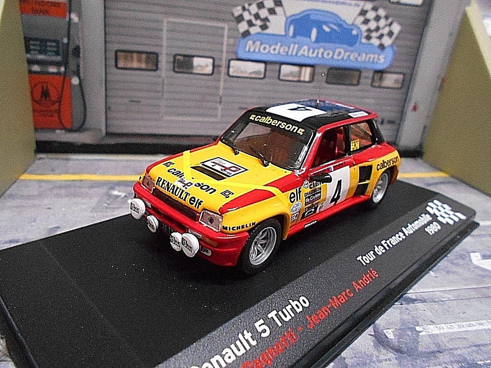 RENAULT 5 Turbo Rallye Tour de France 1980 Ragnotti Altaya IXO RAR 1 43
