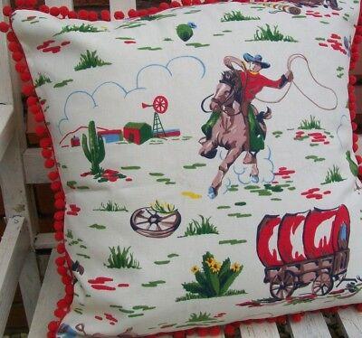 Cath Kidston Cowboy Fabric Cushion, Cowboy Bedding Cath Kidston