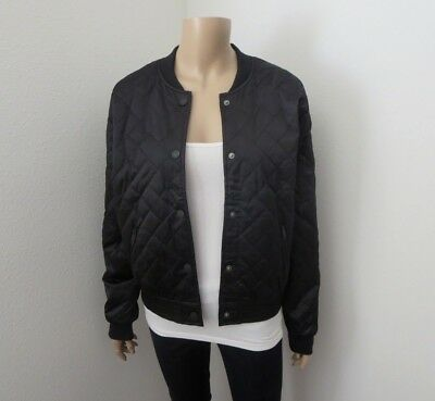 faabf4e96 NWT Hollister Womens Quilted Nylon Bomber Jacket Black Size XS S M L   eBay