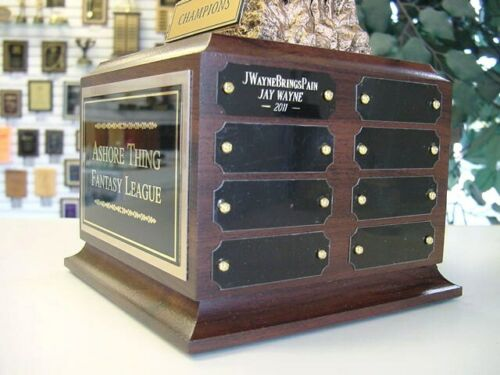 FANTASY FOOTBALL  PERPETUAL TROPHY 16 YEARS AWARD FREE FACE PLATE ENGRAVING *