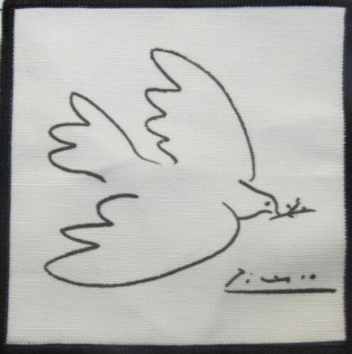PICASSO PEACE DOVE Vest Sew On Hat Backpack! Jacket Printed Patch