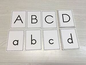 Matching-Upper-amp-Lower-Case-Alphabets-Set-52-Cards-For-Learning-Center
