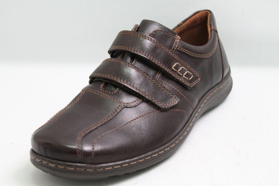 Waldläufer Schuhe dunkel braun Leder Klettverschluss Schuhweite H Wechselfußbett