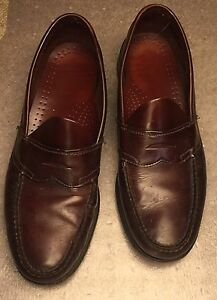 fa2a264e0 Image is loading Dexter-Penny-Loafers-Burgundy-Leather-handsewn-USA