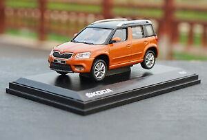 1-43-VW-Volkswagen-Skoda-Yeti-SUV-Orange-Diecast-Car-Model-Collection
