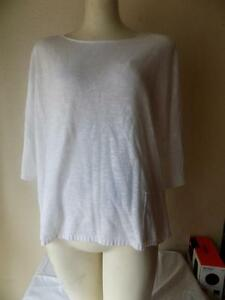 Eileen-Fisher-Off-White-Scoop-Neck-Pullover-Long-Sleeve-Sweater-Size-XL