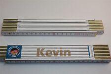Zollstock mit Namen  KEVIN  Lasergravur 2 Meter Handwerkerqualität