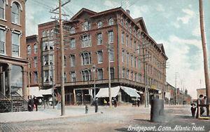 Atlantic-Hotel-Bridgeport-Connecticut-Early-Postcard-Unused