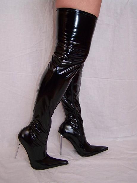 Tacón alto, botas-látex Gumm 100% - Talla 35-47 Producer-Polonia heel - 13cm