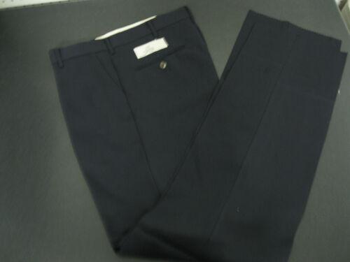 Mens Navy Blue Flat Front Dress Pants 31 32 33 34 36 38 40 46 48  52 X UNHEM NEW
