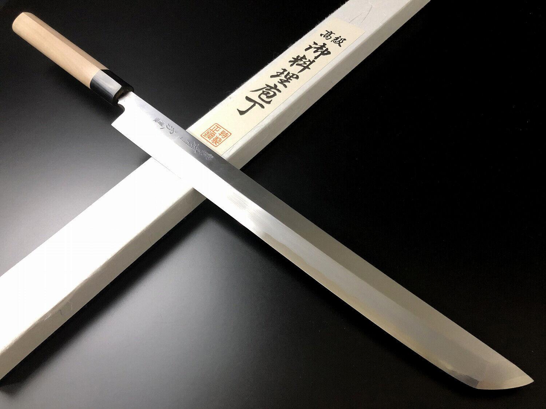 Japonaise couteau de cuisine bleu ARITSUGU Acier sakimaru takobiki 300 mm 11.81  AT010s