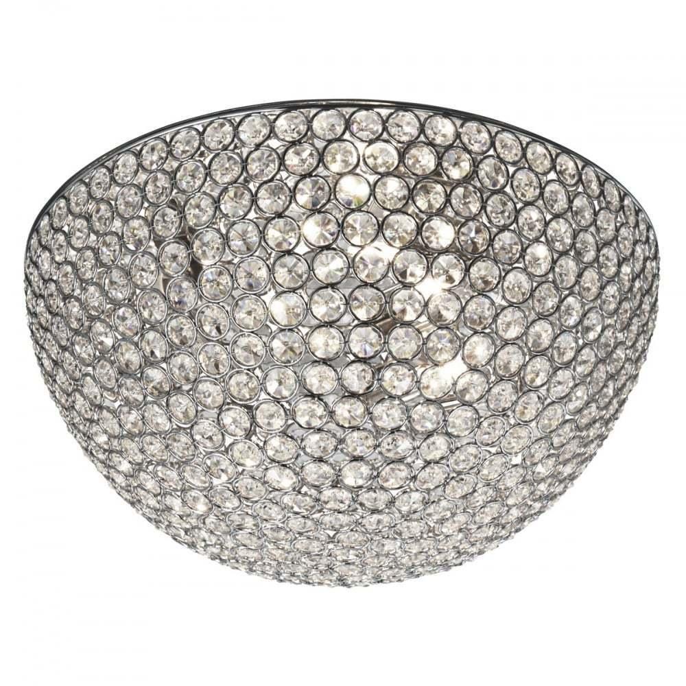 prodotti creativi Searchlight CHANTILLY 3 3 3 Luce Cristallo a filo luce da soffitto in cromo 5163-35CC  bellissimo