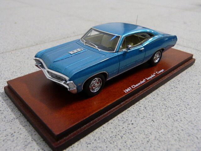 CHEVROLET IMPALA 1967 2 PORTE COUPÉ MARINA BLEU BLEU TSM modèle de voiture 1 43