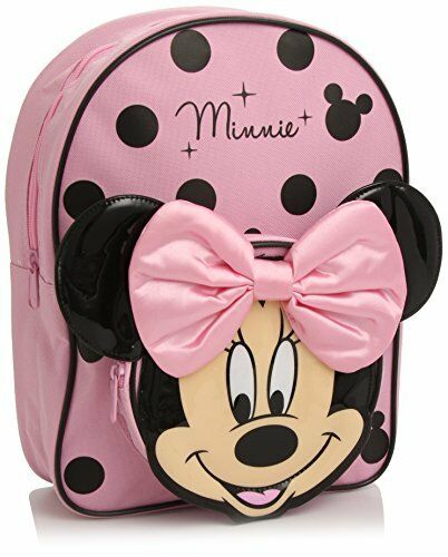 Disney Minnie Mouse Backpack Pink Black