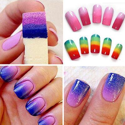 8pcs Nail Art Sponge Stamp Stamping Polish Transfer DIY UV Acrylic Manicure Tool