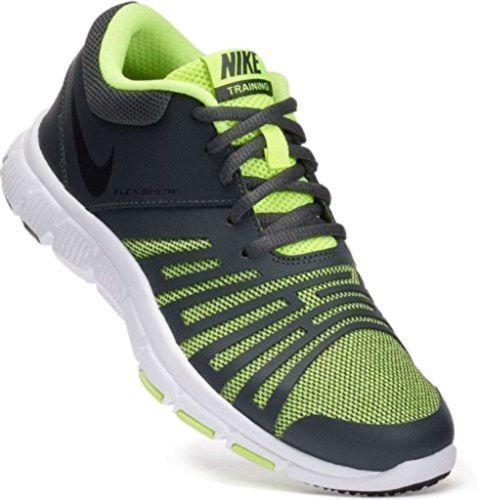 Nike Flex Show TR 5 Boys Girls Running Shoes 847473 007 Black Volt Size 2y *