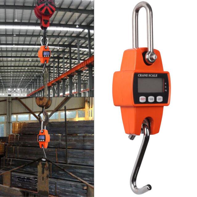300kg//600lb  Heavy Duty Digital Crane Scale Weighing Luggage with Mini Hook