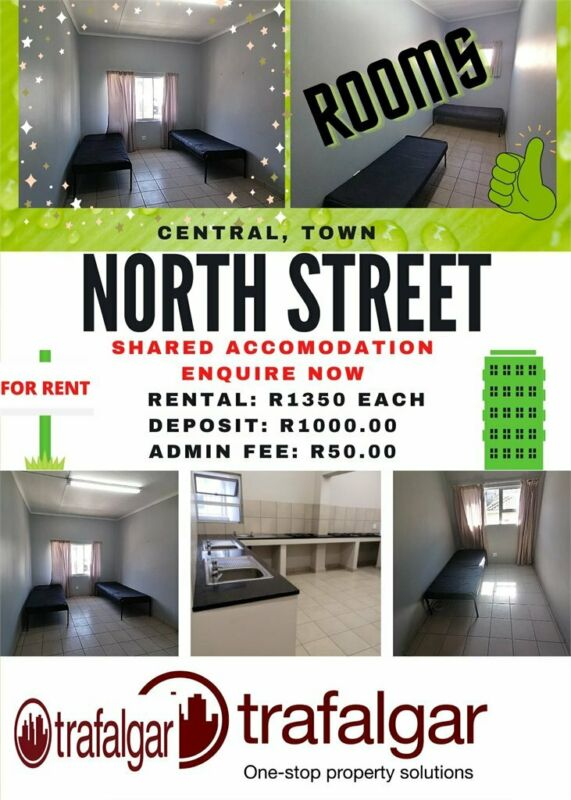 Rooms to share @ R1350 each all inclusive