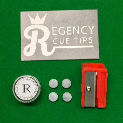 POOL WITH FREE TIP TRIMMER REGENCY PRO GREY CUE TIPS SNOOKER