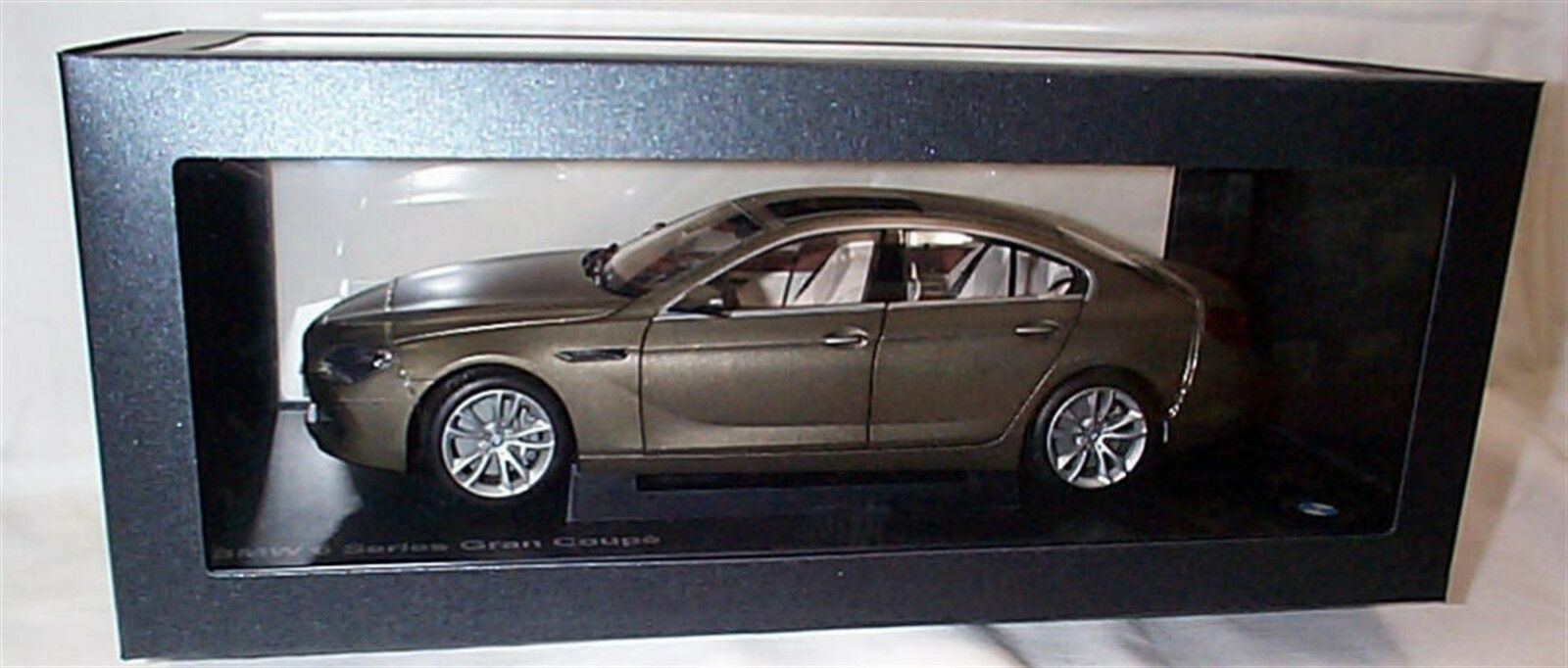 BMW 6 series Gran Coupe Frozen Bronze 1 18 SCALE New Dealer models Opening parts