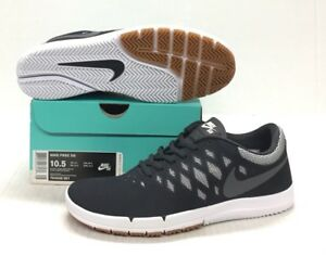 innovative design b0f95 ce678 Image is loading NIKE-SB-FREE-704936-001-BLACK-DARK-GREY-