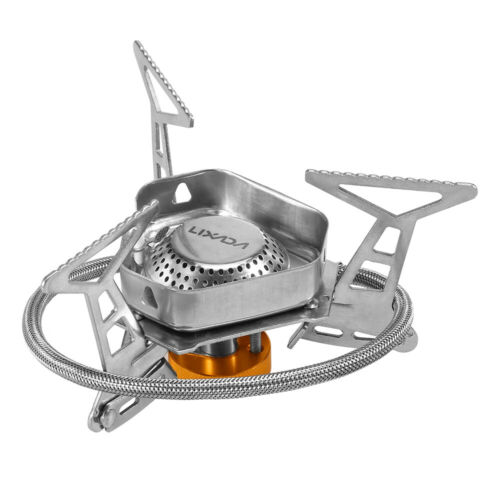 Box B7P5 Lixada Foldable Windproof Camping Gas Stove Portable Outdoor Cooking