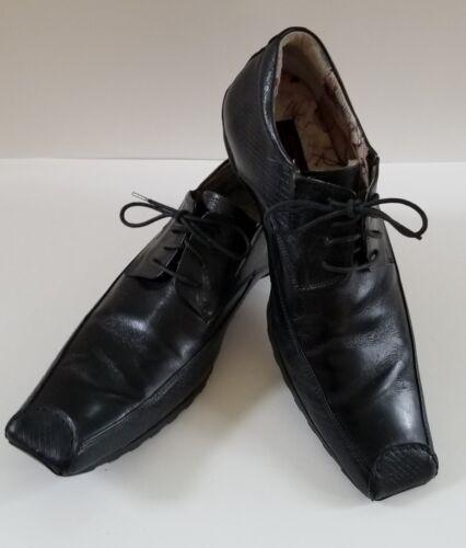 Design Asylum Todd Mens Lace Art quadrata Dress Punta Shoes Welsh 12 Interior Black 1OwqTx