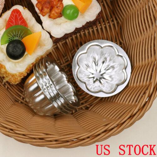 5Pcs Nonstick Alloy Egg Tart Molds Flower Cake Baking Cups  Muffin Tartlets Pans