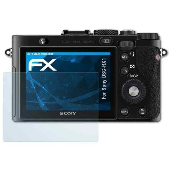 100% Vrai Atfolix 3x Film Protection D'écran Pour Sony Dsc-rx1 Protecteur D'écran Fx-clear Un RemèDe Souverain Indispensable Pour La Maison
