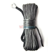 "50' X 1/4""Dyneema Synthetic Winch Rope Cable 6500 LBs ATV SUV UTV with Sheath"