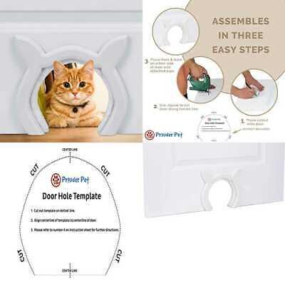 Cats Cat Shaped DIY Fits Most Standard Door Sizes Litter Box ...