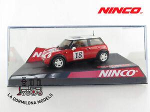 NINCO-MINI-COOPER-ROJO-EAGLE-18-THE-SNACK-COMPANY-SLOT-SCALEXTRIC-NUEVO
