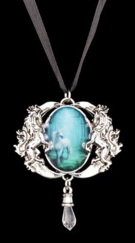 Collar con unicornio-Forest Unicorn-Anne Stokes Medallion cadena colgante