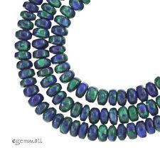 "16"" Azurite Malachite Rondelle Beads 4mm #57012"
