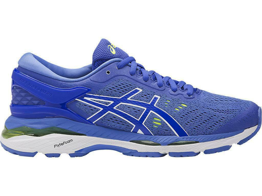 ASICS Gel Kayano 24 Women's Running shoes Size 7 blueePurple bluee White NARROW