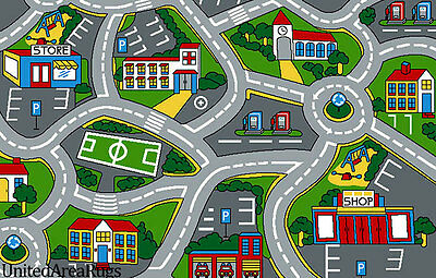3x5 Rug Play Road Driving Time Street