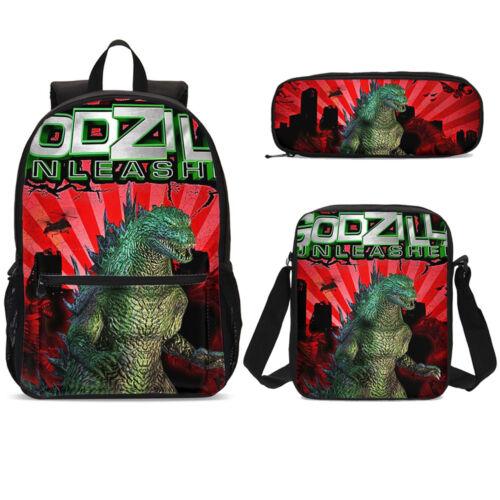 Boys Wholesale Godzilla Knapsack Schoolbag Lunch Tote Satchel Cross-body Holder