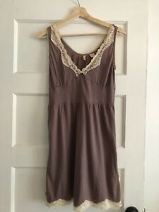 12539771999 Image is loading Anthropologie-Eloise-Cotton-Lace-Slip-Size-Small-Intimates-