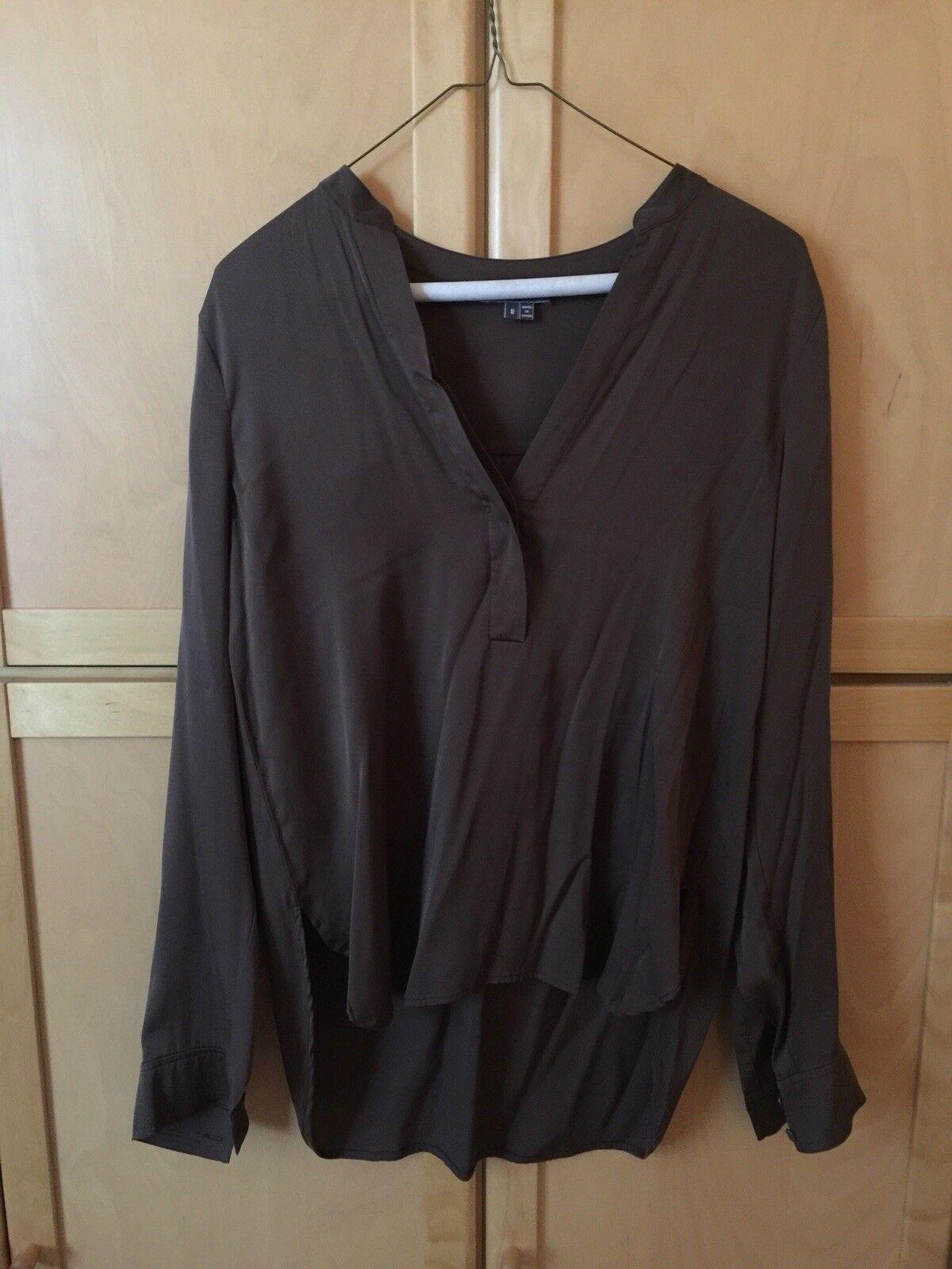 Vince braun Woman's Größe 8 braun Silk Blouse