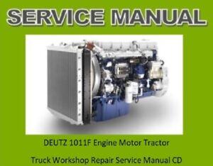deutz 1011f engine service workshop manual